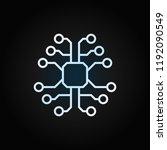 tech brain with chip vector... | Shutterstock .eps vector #1192090549