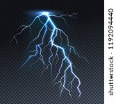 lightning or thunderbolt light... | Shutterstock .eps vector #1192094440