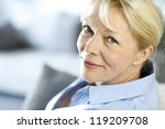 Closeup Of Senior Woman With...
