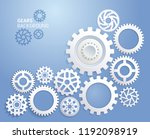 gears background white color... | Shutterstock .eps vector #1192098919