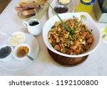arroz con pollo at the... | Shutterstock . vector #1192100800
