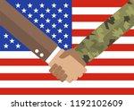 handshake businessman and...   Shutterstock .eps vector #1192102609