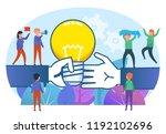 share creative ideas concept.... | Shutterstock .eps vector #1192102696