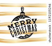 merry christmas. typography.... | Shutterstock .eps vector #1192105246