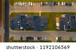 top down view on multi family... | Shutterstock . vector #1192106569