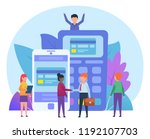 safe  secure mobile payment... | Shutterstock .eps vector #1192107703