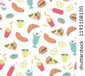vector seamless pattern with... | Shutterstock .eps vector #1192108150