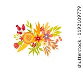 of hand drawn bouquets. floral... | Shutterstock .eps vector #1192109779