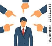 accusation concept. sad... | Shutterstock .eps vector #1192111663