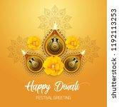 happy diwali   traditional... | Shutterstock .eps vector #1192113253