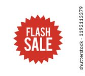 flash sale vector | Shutterstock .eps vector #1192113379