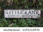 """little lane  coastal footpath"" ... | Shutterstock . vector #1192113970"
