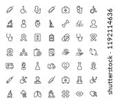 cancer icon set. collection of... | Shutterstock .eps vector #1192114636