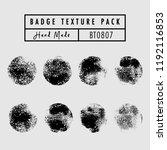 grunge badge texture vector set ...   Shutterstock .eps vector #1192116853