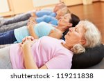 group of senior people relaxing ... | Shutterstock . vector #119211838