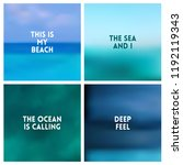 abstract vector beach blurred... | Shutterstock .eps vector #1192119343