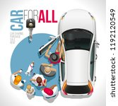 the car for all and everyone ...   Shutterstock .eps vector #1192120549