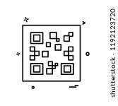 qr code icon design vector | Shutterstock .eps vector #1192123720