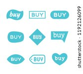 buy sign and sticker  sale tag  ... | Shutterstock .eps vector #1192126099