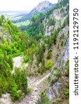 beautiful view of schwangau.... | Shutterstock . vector #1192129750