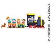 the children and engineer of... | Shutterstock . vector #1192130326