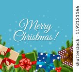 christmas retro card with... | Shutterstock .eps vector #1192131166