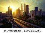 sunrise in kuala lumpur with...   Shutterstock . vector #1192131250