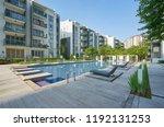 modern residential buildings... | Shutterstock . vector #1192131253