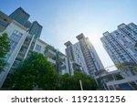 urban geometry  looking up to... | Shutterstock . vector #1192131256