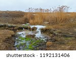 the small waterfall on the... | Shutterstock . vector #1192131406