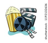 cinema movie with popcorn | Shutterstock .eps vector #1192132636