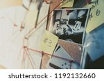 detective board with evidence ... | Shutterstock . vector #1192132660