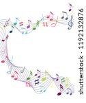color music notes on a solid... | Shutterstock .eps vector #1192132876