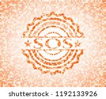 sos orange tile background... | Shutterstock .eps vector #1192133926