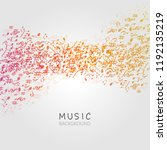 music background with music...   Shutterstock .eps vector #1192135219