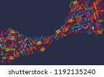 music background with colorful...   Shutterstock .eps vector #1192135240