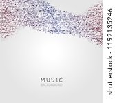 music background with music...   Shutterstock .eps vector #1192135246