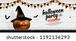 happy halloween party trick or...   Shutterstock .eps vector #1192136293