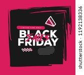 vector square black friday web... | Shutterstock .eps vector #1192138336