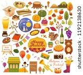 autumn icon set. vector... | Shutterstock .eps vector #1192138630