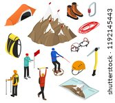color mountaineering signs 3d... | Shutterstock .eps vector #1192145443