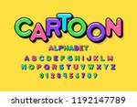 colorful cartoon style font... | Shutterstock .eps vector #1192147789
