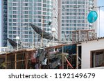 satellite dish background   Shutterstock . vector #1192149679