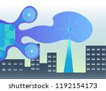 city monitoring 2d illustration   Shutterstock .eps vector #1192154173