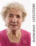 old woman smiles  close up ...   Shutterstock . vector #1192155280