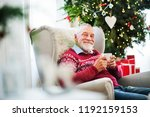 a portrait of senior man with a ... | Shutterstock . vector #1192159153