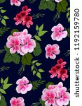 floral seamless pattern with... | Shutterstock .eps vector #1192159780