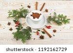 macchiato or latte cappuccino...   Shutterstock . vector #1192162729
