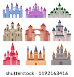 flat vector set of large fairy... | Shutterstock .eps vector #1192163416