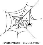spiderweb vector illustration... | Shutterstock .eps vector #1192166989